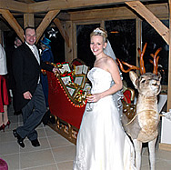 Christmas Wedding co-ordinated by Linda Palmer, Professional Lady Toastmaster and Master of Ceremonies