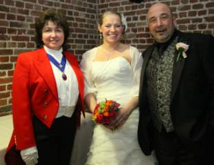 Kelly and Pan, Bride and Groom with Essex Professional Lady Toastmaster